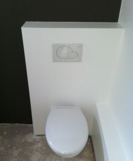 Montage toilette suspendu rservoir geberit omega avec for Pose wc suspendu geberit
