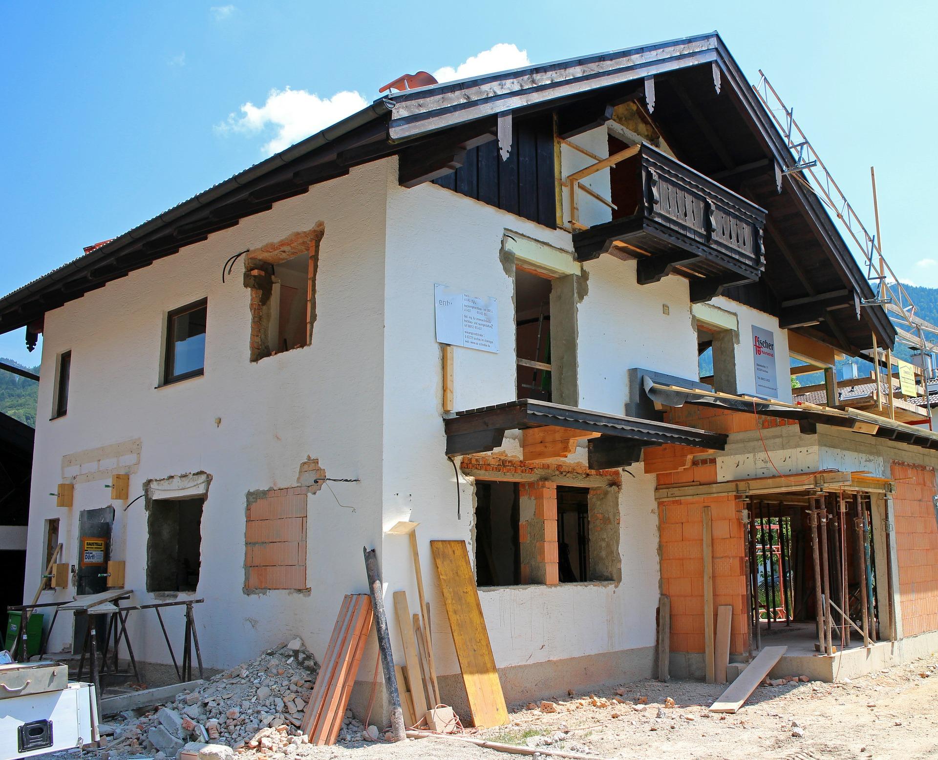 Chantier de rénovation d'une maison individuelle