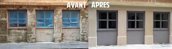 Ravalement de façade : façade avant après ravalement, enduit ...