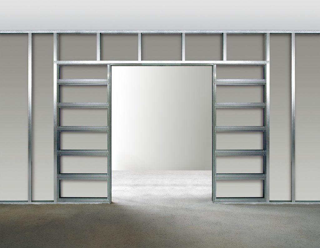 Poser une porte coulissante dans une cloison placo - Prix d une porte coulissante scrigno ...