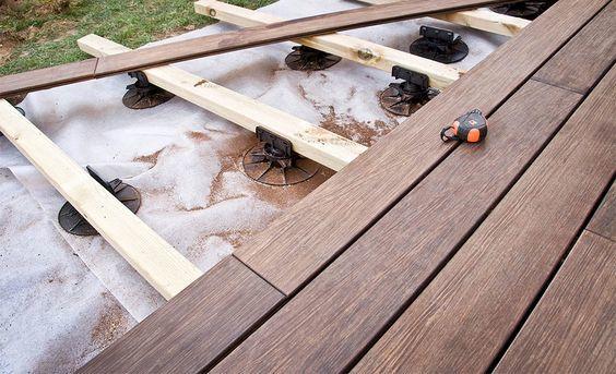 Terrasse sans béton